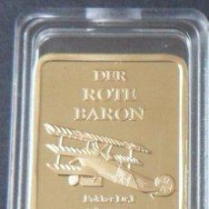 Reproducciones billetes y monedas: LINGOTE ORO 24KT DER ROTE BARON EL BARON ROJO 1892 - 1918 MUY DIFICIL DE CONSEGUIR. Lote 179005478