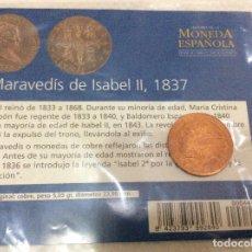 Reproducciones billetes y monedas: 4 MARAVEDIS DE ISABEL II, 1837. EL MUNDO . Lote 97516231