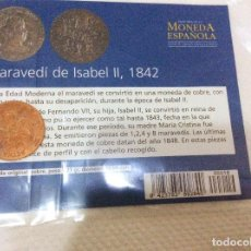 Reproducciones billetes y monedas: MARAVEDI DE ISABEL II, 1842. EL MUNDO. Lote 97516563