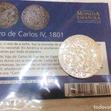 Reproducciones billetes y monedas: DURO DE CARLOS IV, 1801. EL MUNDO. Lote 97517531
