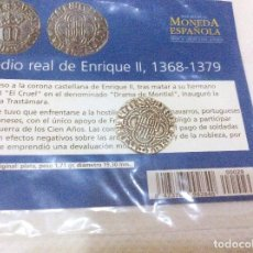 Reproducciones billetes y monedas: MEDIO REAL DE ENRIQUE II, 1368-1379. EL MUNDO. Lote 97519091