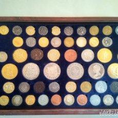 Reproducciones billetes y monedas: RÉPLICAS HISTORIA DE LA MONEDA EN ESPAÑA. EN SU CAJA ORIGINAL. . Lote 97994687