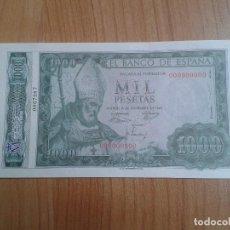 Reproducciones billetes y monedas: BILLETE 1000 PESETAS - ESPAÑA 1965 - FACSIMIL - REAL CASA DE LA MONEDA - CON Nº DE SERIE. Lote 98478183