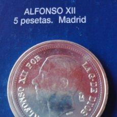 Reproducciones billetes y monedas: MONEDA ALFONSO XII 5 PESETAS 1882. REPRODUCCIÓN. Lote 98695948