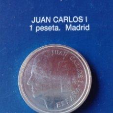 Reproducciones billetes y monedas: MONEDA J. CARLOS I 1 PESETA 1989 . Lote 98702107