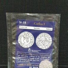 Reproducciones billetes y monedas: MONEDA DEL REAL A LA PESETA N18 MEDIO REAL. Lote 99321426