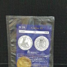 Reproducciones billetes y monedas: MONEDA DEL REAL A LA PESETA Nº24 CARLOS IV 8 ESCUDOS. Lote 99321551