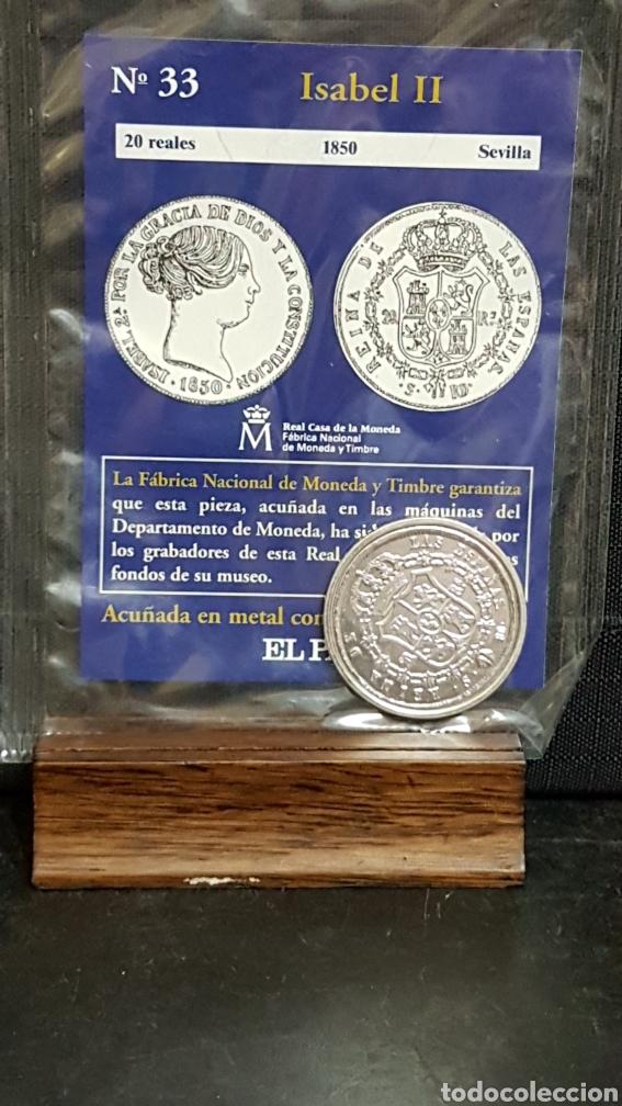 MONEDA DEL REAL A LA PESETA N33 ISABEL II 20 REALES (Numismática - Reproducciones)