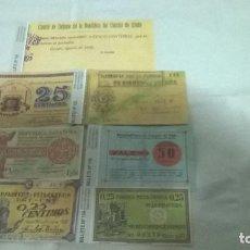 Reproducciones billetes y monedas: 14-LOTE DE REPLICAS , PAPEL MONEDA, ASTURIAS. Lote 99561143