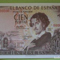 Reproducciones billetes y monedas: REPRODUCCIÓN BILLETE CIEN PESETAS 1965. Lote 100323111