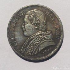 Reproducciones billetes y monedas: 5 LIRAS VATICANO 1870 PAPA PIO IX. Lote 200508551
