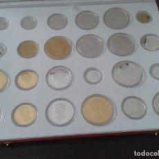Reproducciones billetes y monedas: 24 REPLICAS DE PLATA Y ORO QUE FORMAN LA HISTORIA DE LA PESETA. Lote 102513343