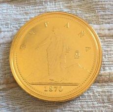 Reproducciones billetes y monedas: 100 PESETAS 1870 GOBIERNO PROVISIONAL MADRID RÉPLICA. Lote 103116895