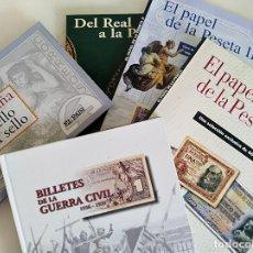 Reproducciones billetes y monedas: LOTE DE COLECCIONABLES EL PAIS. LA PESETA, BILLETES DE LA GUERRA CIVIL, SELLO A SELLO. Lote 104025059
