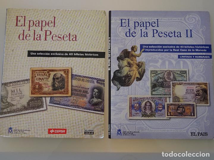 COLECCIÓN COMPLETA 80 BILLETES. EL PAPEL DE LA PESETA I Y II. FACSÍMIL. FACSÍMILES FNMT. 400 GR (Numismática - Reproducciones)
