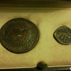 Reproducciones billetes y monedas: AUTÉNTICAS REPRODUCCIONES MONEDAS ROMANAS DE TARRACO. DRACMA, DENARIO Y SEXTERCIO. Lote 104106686