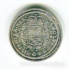 Riproduzioni banconote e monete: 8 (OCHO) REALES CARLOS II AÑO 1691 CECA SEGOVIA REPRODUCCION REAL CASA DE LA MONEDA BAÑADA EN PLATA. Lote 105626787