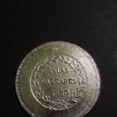 Reproducciones billetes y monedas: MONEDA FERN 7º 5P. YSLAS BALEARES 1823. REPLICA. MALLORCA .. Lote 105743719