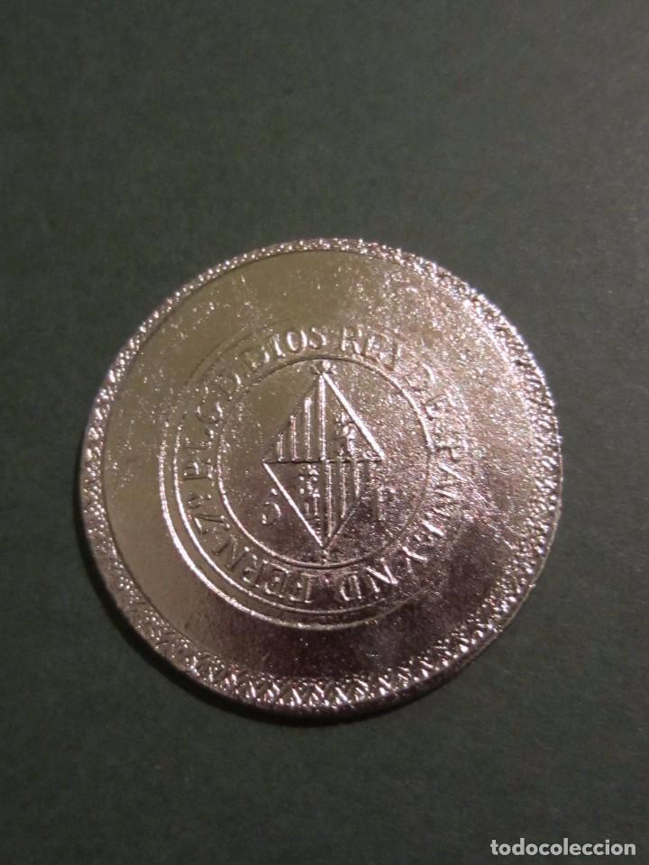 Reproducciones billetes y monedas: Moneda FERN 7º 5p. YSLAS BALEARES 1823. Replica. Mallorca . - Foto 4 - 105743719