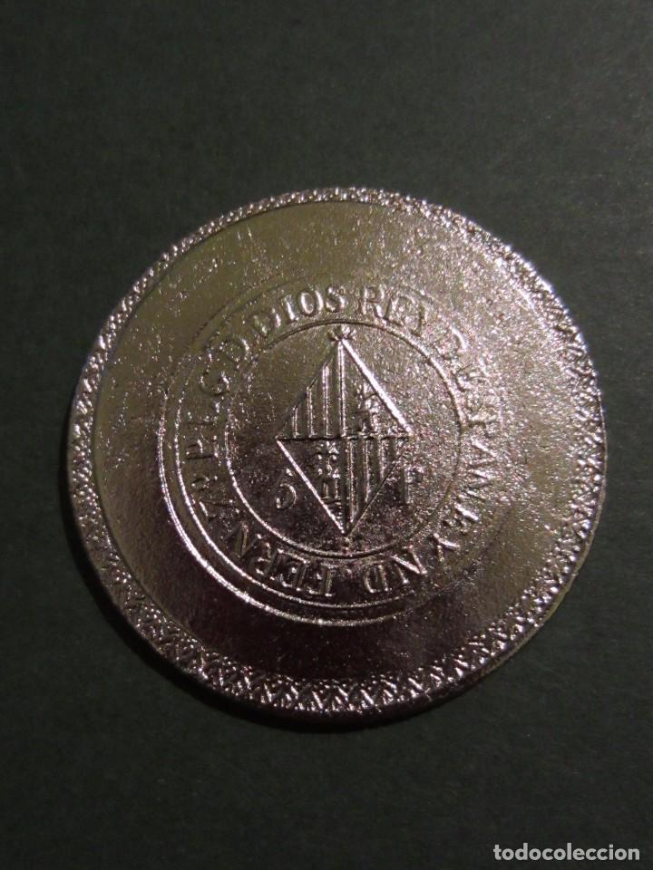 Reproducciones billetes y monedas: Moneda FERN 7º 5p. YSLAS BALEARES 1823. Replica. Mallorca . - Foto 5 - 105743719