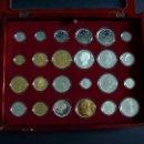 Reproducciones billetes y monedas: HISTORIA DE LA PESETA .EMISION DE REPLICAS DE 24 MONEDAS DE PLATA Y ORO. Lote 103066723