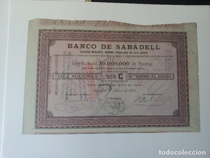 Reproducciones billetes y monedas: TITULOS DE EPOCA, LA BANCA EN ESPAÑA - 125 ANIVERSARIO 1881/2006, BANCO SABADELL - Foto 5 - 106097759