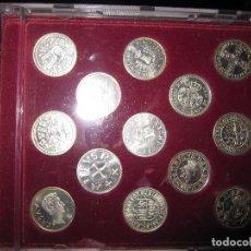 Reproducciones billetes y monedas: COLECCION ARRAS GALLEGAS. ACUÑADAS EN PLATA. REPRODUCCION DE MONEDAS ANTIGUAS DEL REINO DE GALICIA.. Lote 107080867