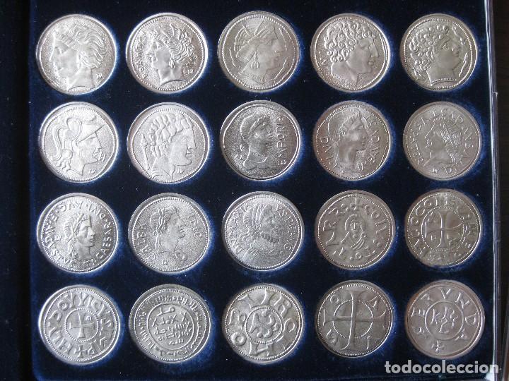 COLECCIÓN DE 20 MONEDAS CATALANAS, BAÑADAS EN PLATA (Numismática - Reproducciones)