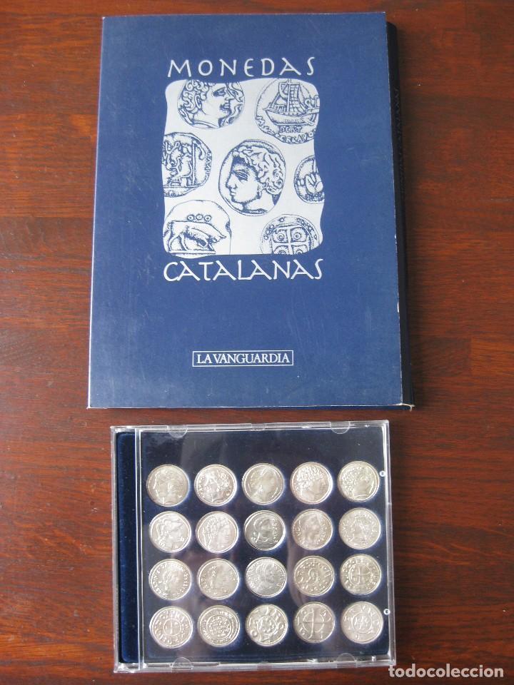 Reproducciones billetes y monedas: Colección de 20 monedas catalanas, bañadas en plata - Foto 3 - 107668459