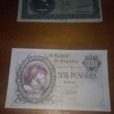 Reproducciones billetes y monedas: REPRODUCCIÓN FACSÍMIL. MIL PESETAS. 1940. EST24B2. Lote 107998991
