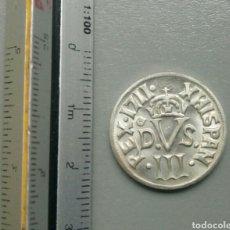 Reproducciones billetes y monedas: MONEDA REPRODUCCIÓN BORBONES REX 1711 XHISPAN PLATA. Lote 108242816