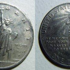 Reproducciones billetes y monedas: REPRODUCCION ESTADOS UNIDOS 1 DOLAR 1906 37 MM. Lote 108273647