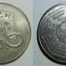 Reproducciones billetes y monedas: REPRODUCCION MONEDA DEL HOROSCOPO CHINO LA SERPIENTE 37MM. Lote 108275091