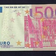 Reproducciones billetes y monedas: BILLETE 500 EUROS EN LÁMINA DORADA. Lote 108415479