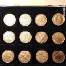 Reproducciones billetes y monedas: COLECCIÓN 12 MONEDAS IBERO-ROMANAS. PRIMERA CENTURIA DE NUESTRA ERA.. Lote 108425427