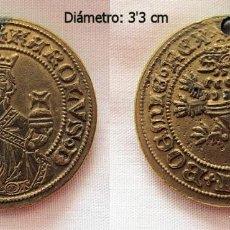 Reproducciones billetes y monedas: MEDALLA O MONEDA MEDIEVAL BRONCE. Lote 109295019