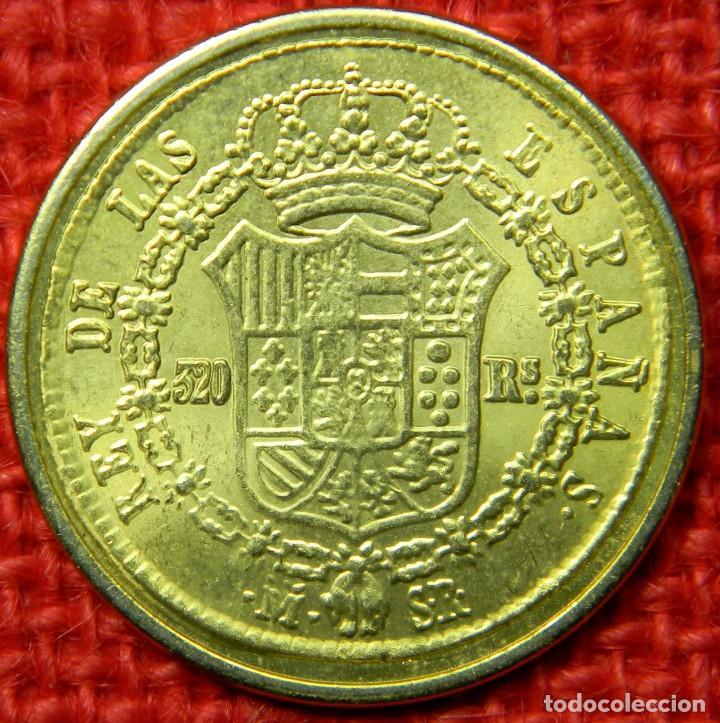 Reproducciones billetes y monedas: España - Fernando VII Por la gracia de Dios y la Constitución - 1823 - 320 reales - FNMT - Baño oro - Foto 4 - 112256911