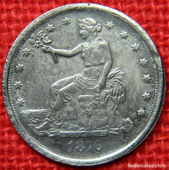 ESTADOS UNIDOS OF AMERICA - 1876 - 1 DOLAR - LIBERTY - DIAMETRO 38 MM (Numismática - Reproducciones)