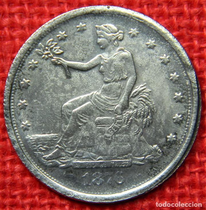 Reproducciones billetes y monedas: Estados Unidos of America - 1876 - 1 dolar - Liberty - Diametro 38 mm - Foto 3 - 112647455
