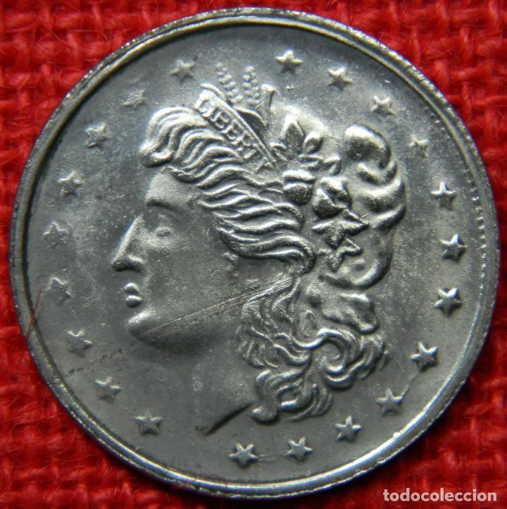 Reproducciones billetes y monedas: Estados Unidos of America - 1 dolar - Liberty - Diametro 38 mm - Foto 3 - 112647575