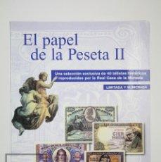 Reproducciones billetes y monedas: COLECCIÓN 40 FACSÍMILES DE BILLETES ESPAÑOLES - EL PAPEL DE LA PESETA II - FNMT / EL PAÍS, 2002. Lote 112883035