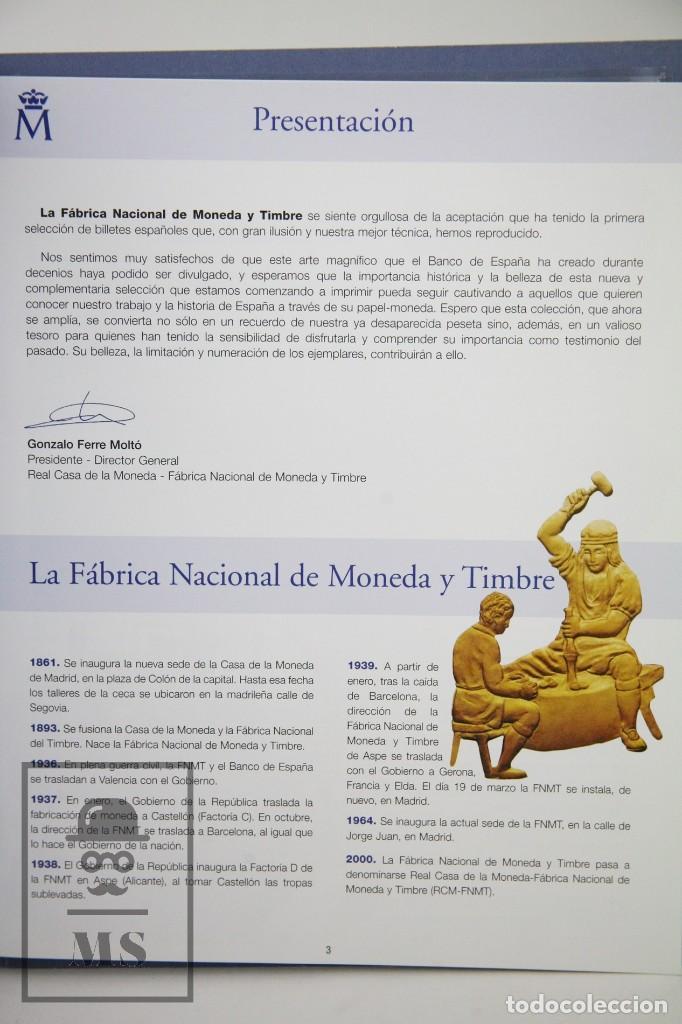 Reproducciones billetes y monedas: Colección 40 Facsímiles de Billetes Españoles - El Papel de la Peseta II - FNMT / El País, 2002 - Foto 2 - 112883035