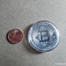 Reproducciones billetes y monedas: RÉPLICA MONEDA BITCOIN. Lote 113565107