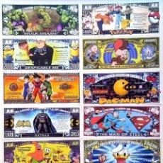 Reproducciones billetes y monedas: DOLLAR BILL LOT 12 BILLETES FANTASIA UNC. Lote 114379223
