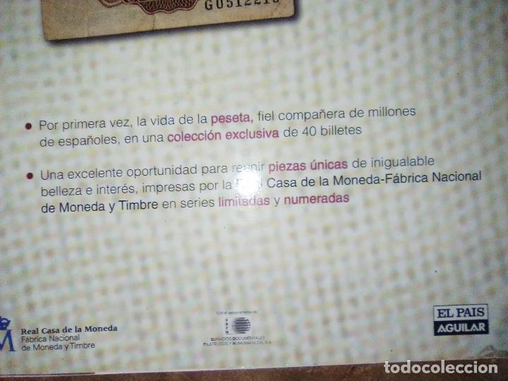 Reproducciones billetes y monedas: EL PAPEL DE LA PESETA UNA SELECCION EXCLUSIVA DE 40 BILLETES HISTORICOS COMPLETA EL PAIS FNMT - Foto 2 - 114529207