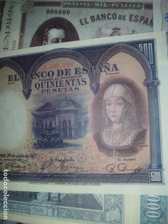 Reproducciones billetes y monedas: EL PAPEL DE LA PESETA UNA SELECCION EXCLUSIVA DE 40 BILLETES HISTORICOS COMPLETA EL PAIS FNMT - Foto 5 - 114529207