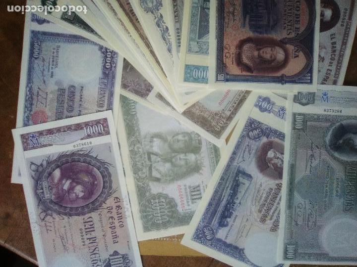 Reproducciones billetes y monedas: EL PAPEL DE LA PESETA UNA SELECCION EXCLUSIVA DE 40 BILLETES HISTORICOS COMPLETA EL PAIS FNMT - Foto 6 - 114529207