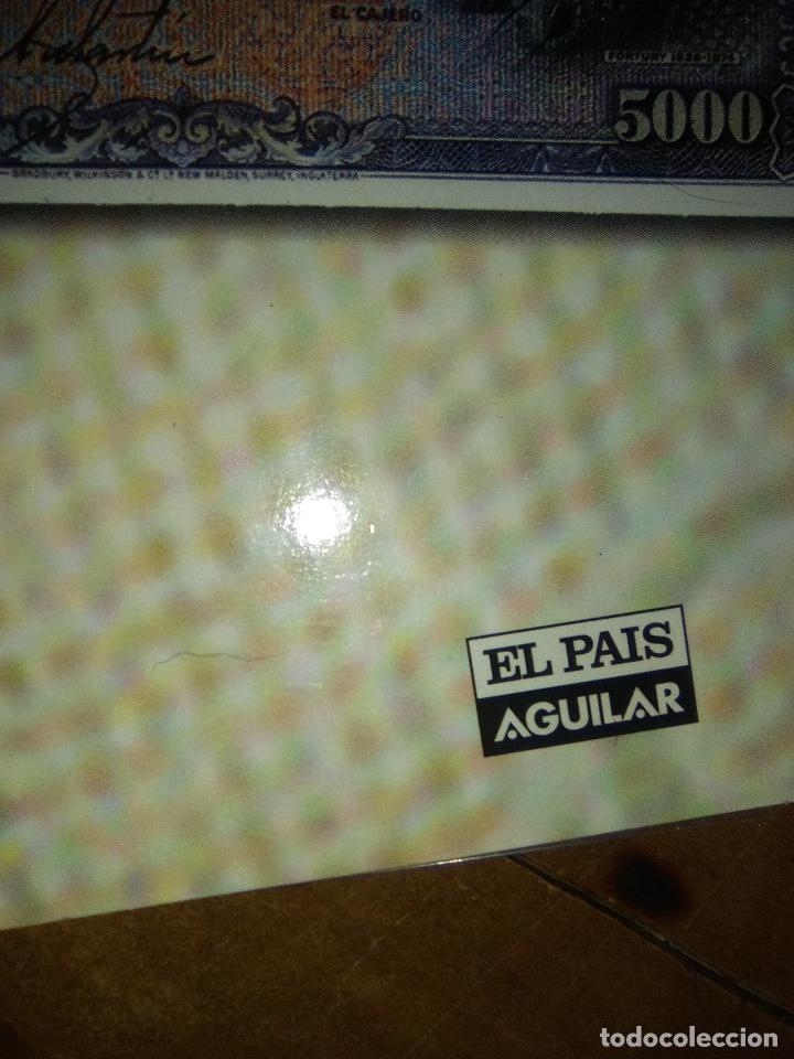 Reproducciones billetes y monedas: EL PAPEL DE LA PESETA UNA SELECCION EXCLUSIVA DE 40 BILLETES HISTORICOS COMPLETA EL PAIS FNMT - Foto 8 - 114529207
