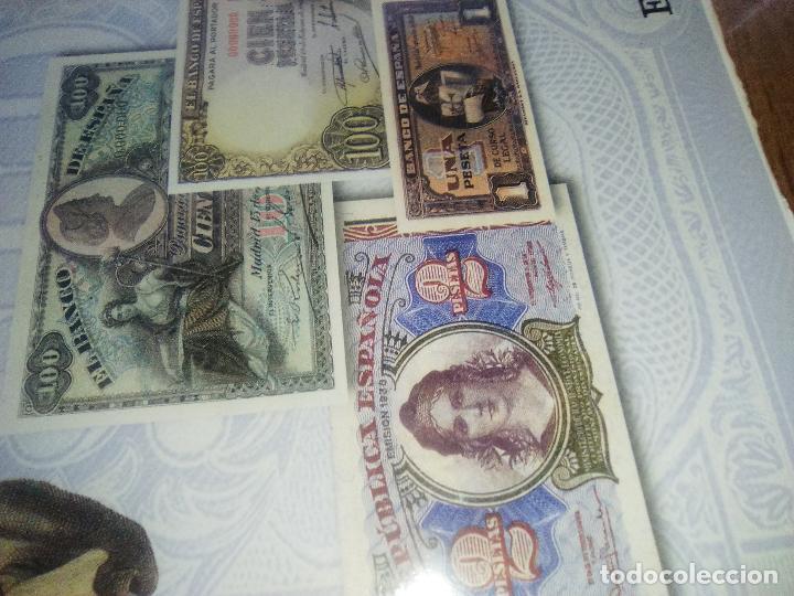 Reproducciones billetes y monedas: EL PAPEL DE LA PESETA UNA SELECCION EXCLUSIVA DE 40 BILLETES HISTORICOS COMPLETA EL PAIS FNMT - Foto 2 - 114531515