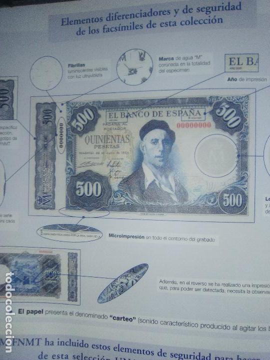 Reproducciones billetes y monedas: EL PAPEL DE LA PESETA UNA SELECCION EXCLUSIVA DE 40 BILLETES HISTORICOS COMPLETA EL PAIS FNMT - Foto 4 - 114531515